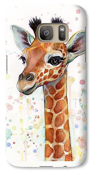 Baby Giraffe Watercolor  Galaxy S7 Case