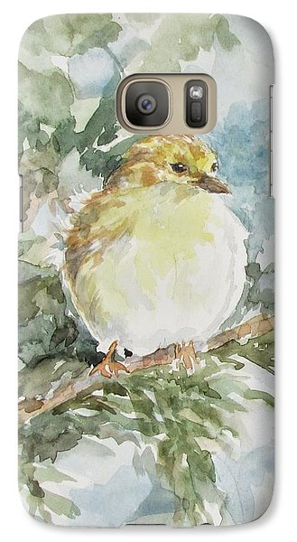 Galaxy Case featuring the painting Baby Goldfinch by Gloria Turner