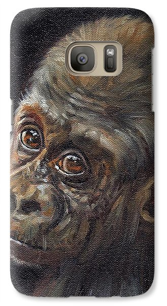 Gorilla Galaxy S7 Case - Baby Gorilla by David Stribbling