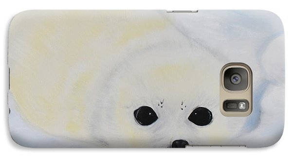 Galaxy Case featuring the painting Baby Harp Seal by Bev Conover