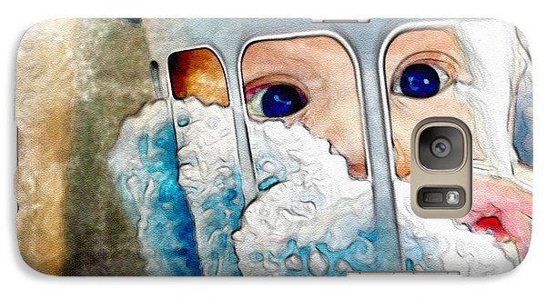 Galaxy Case featuring the digital art Baby In A Basket by Mary M Collins