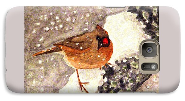 Galaxy Case featuring the painting Baby Its Cold Outside by Angela Davies
