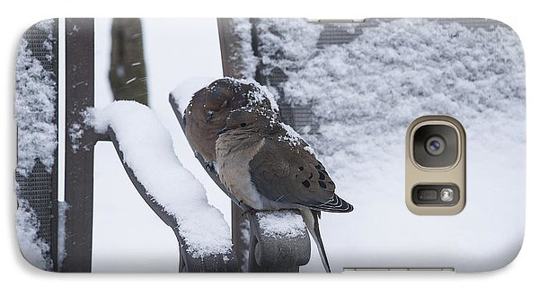 Galaxy Case featuring the photograph Baby It's Cold Outside by Phil Abrams