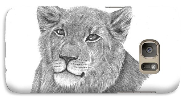 Galaxy Case featuring the drawing Baby King by Patricia Hiltz