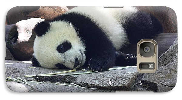 Galaxy Case featuring the photograph Baby Panda by John Telfer