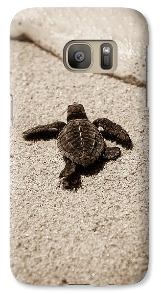 Baby Sea Turtle Galaxy S7 Case by Sebastian Musial