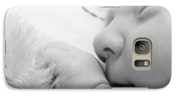 Galaxy Case featuring the photograph Baby Sleeping With Teddy Bear by Tracie Kaska