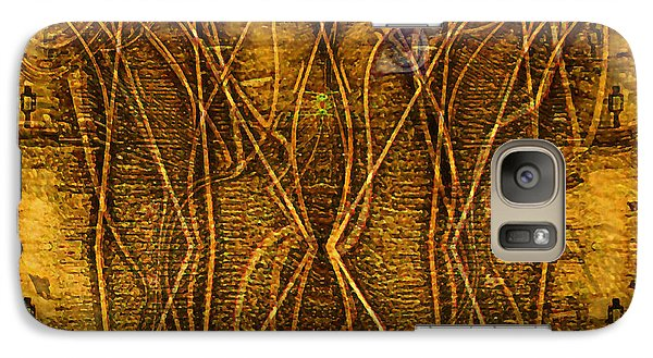 Galaxy Case featuring the digital art Babylon By Rail by Mojo Mendiola
