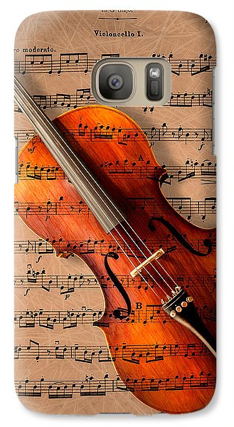Violin Galaxy S7 Case - Bach On Cello by Sheryl Cox