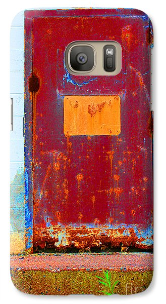 Galaxy Case featuring the photograph Back Door by Christiane Hellner-OBrien