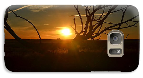 Galaxy Case featuring the photograph Back Forty Sunrise by Clarice  Lakota