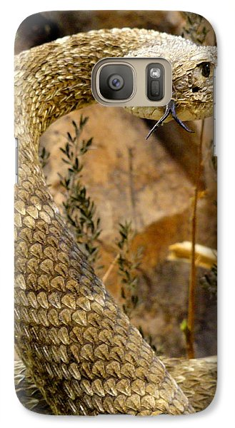 Galaxy Case featuring the photograph Back Off by Mary Beth Landis