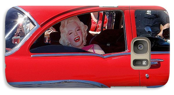 Galaxy Case featuring the photograph Back Seat Marilyn by Ed Weidman