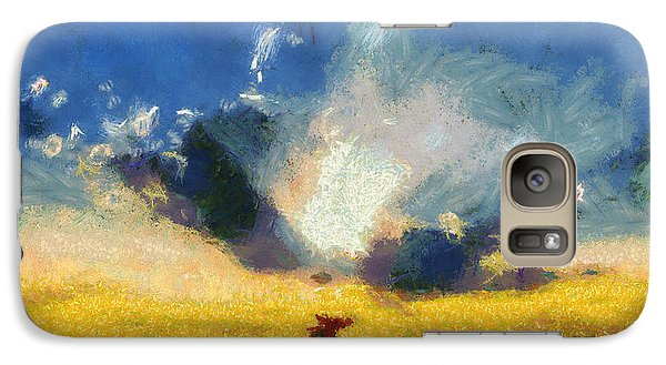 Galaxy Case featuring the painting Back To Goodbye by Joe Misrasi