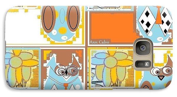 Galaxy Case featuring the digital art Back To School Owl by Ann Calvo