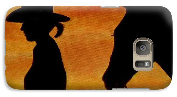 Galaxy Case featuring the painting Back To The Barn by Julie Brugh Riffey