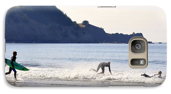 Galaxy Case featuring the photograph Back To The Sea by AJ  Schibig
