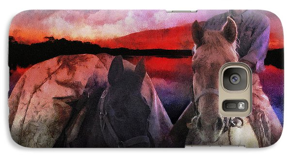 Galaxy Case featuring the digital art Backcountry Packer by Rhonda Strickland