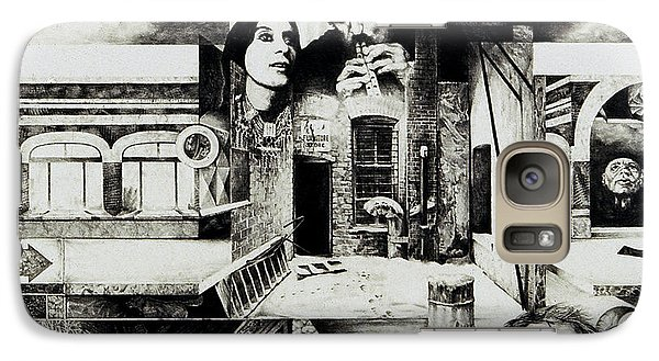 Galaxy Case featuring the drawing Backlane Serenade by Otto Rapp