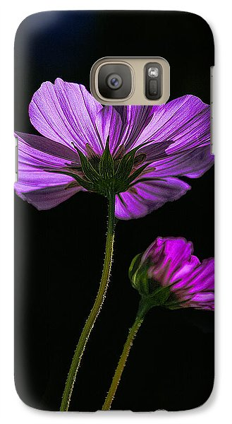 Galaxy Case featuring the photograph Backlit Blossoms by Marty Saccone