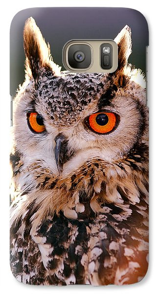 Backlit Eagle Owl Galaxy S7 Case by Roeselien Raimond
