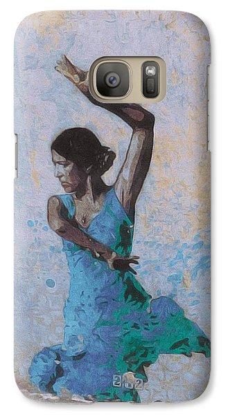 Galaxy Case featuring the photograph Backstreet Dancer In Horta by Susan Alvaro