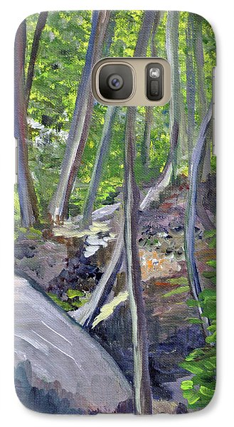 Galaxy Case featuring the photograph Backyard At Sussex 1 by Dottie Branchreeves