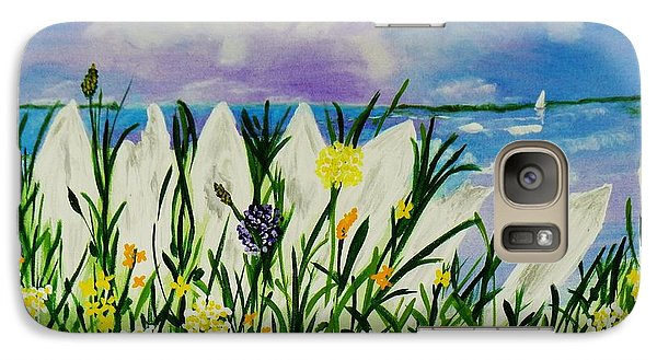 Galaxy Case featuring the painting Backyard Beach by Celeste Manning