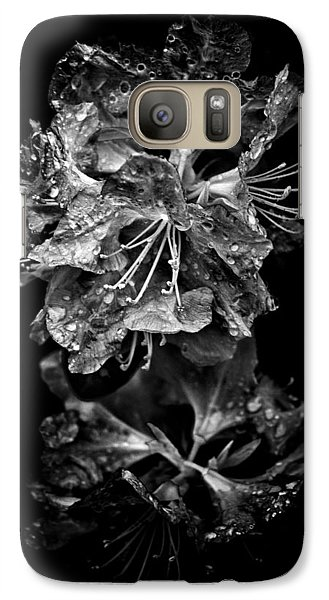 Galaxy Case featuring the photograph Backyard Flowers In Black And White 1 After The Storm by Brian Carson