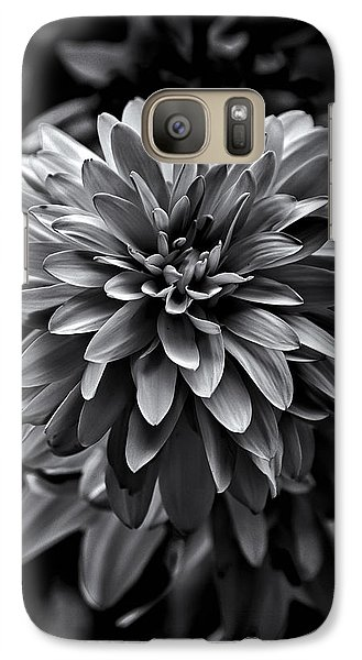 Galaxy Case featuring the photograph Backyard Flowers In Black And White 15 by Brian Carson