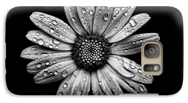 Galaxy Case featuring the photograph Backyard Flowers In Black And White 16 After The Storm by Brian Carson