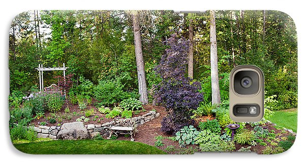 Loon Galaxy S7 Case - Backyard Garden In Loon Lake, Spokane by Panoramic Images