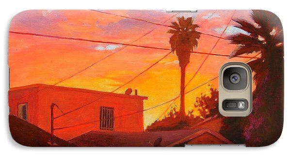 Galaxy Case featuring the painting backyard in East LA by Andrew Danielsen