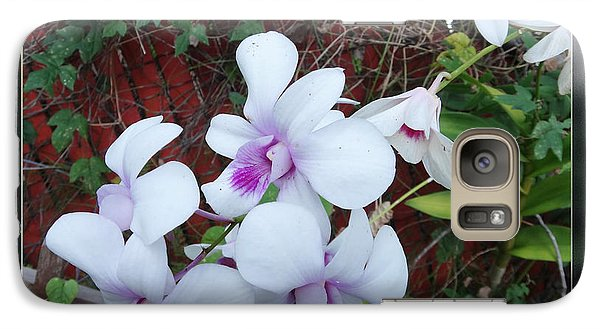 Galaxy Case featuring the photograph Backyard Orchid Two by Ginny Schmidt