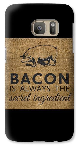 Rural Scenes Galaxy S7 Case - Bacon Is Always The Secret Ingredient by Nancy Ingersoll