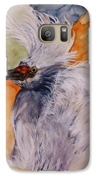 Galaxy Case featuring the painting Bad Hair Day by Lil Taylor