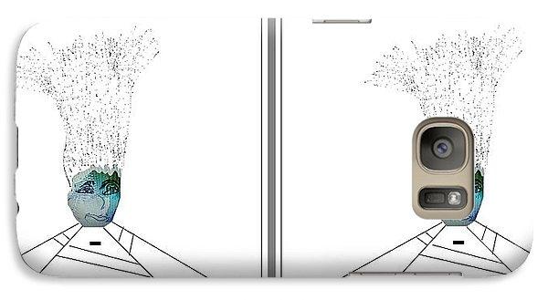 Galaxy Case featuring the digital art Bad Hair Day by Ann Calvo