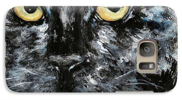 Galaxy Case featuring the painting Bad Malcolm by Alison Caltrider