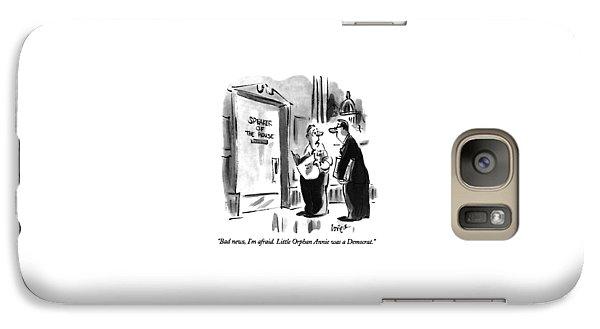 Bad News, I'm Afraid.  Little Orphan Annie Galaxy S7 Case by Lee Lorenz