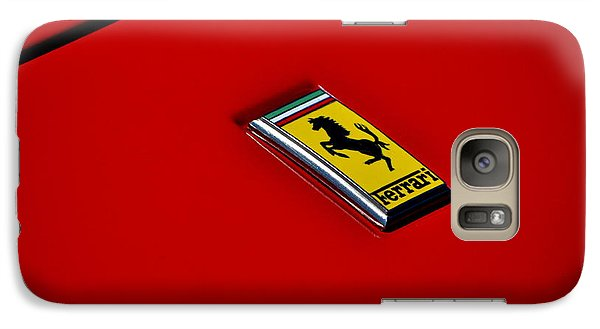 Galaxy Case featuring the photograph Badge In Red by Dean Ferreira