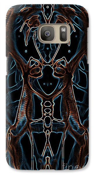 Galaxy Case featuring the digital art Badge Variation 2 by Devin  Cogger