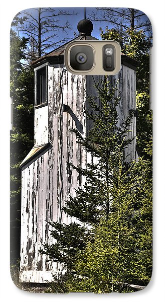 Galaxy Case featuring the photograph Baileys Harbor Range Lighthouse by Deborah Klubertanz