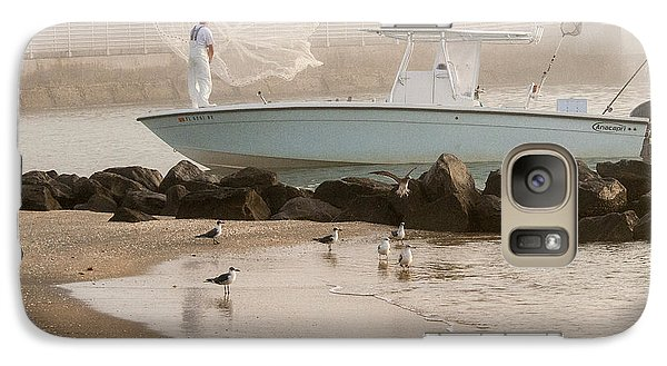 Galaxy Case featuring the photograph Bait Gathering by Don Durfee