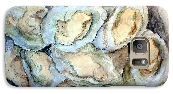 Galaxy Case featuring the painting Baked Oysters In Shells by Carol Grimes