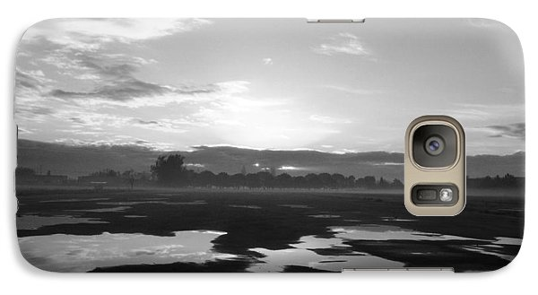 Galaxy Case featuring the photograph Bakersfield In Black And White by Meghan at FireBonnet Art