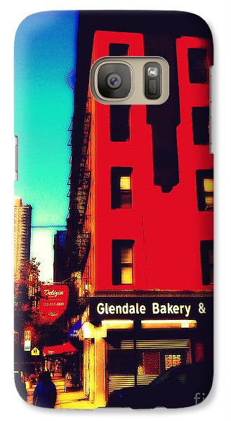 Galaxy Case featuring the photograph The Bakery - New York City Street Scene by Miriam Danar