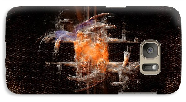 Galaxy Case featuring the painting Balance by Alexa Szlavics