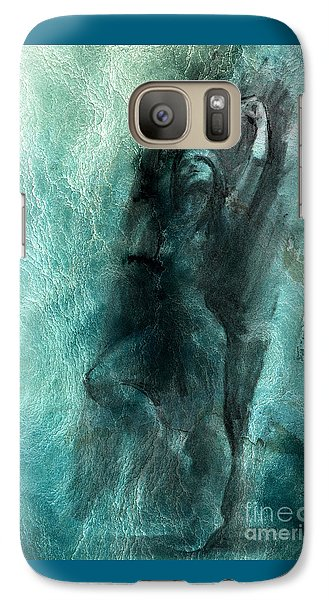 Galaxy Case featuring the drawing Balance With Mood Texture by Paul Davenport