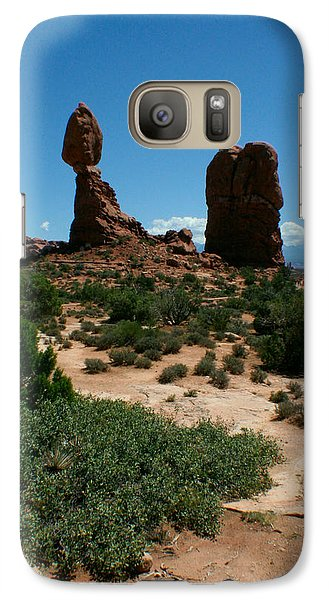 Galaxy Case featuring the photograph Balanced Rock by Jon Emery