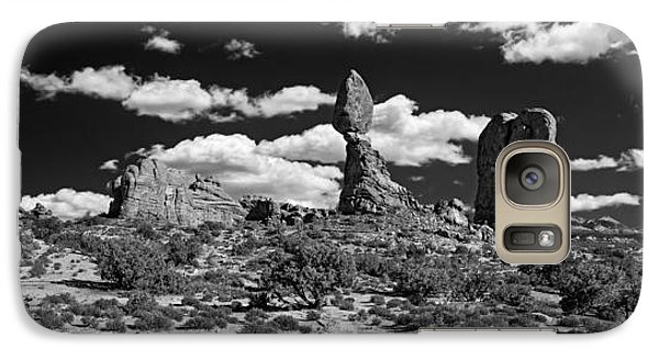 Galaxy Case featuring the photograph Balanced Rock by Larry Carr